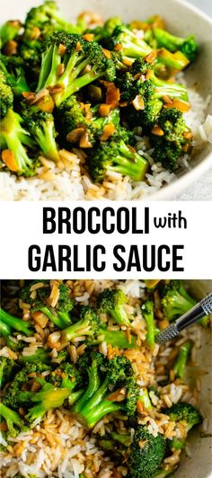 Broccoli stir fry recipe – this is so easy to make and the stir fry sauce is only 3 ingredients! Tastes just like takeout. #broccoliwithgarlicsauce #stirfry #stirfrysauce #broccolistirfry #vegan #vegetarian #sidedish #chinese