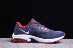 info for e0954 304c4 Newest Nike Air VaporMax Flyknit Navy Blue Red White Mens Running Shoes  Trainers