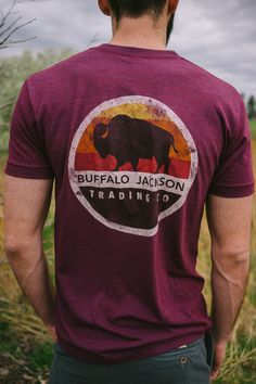 Buffalo Jackson graphic tee. Short sleeve men's t-shirt with that broken in, super soft feel and worn in look.