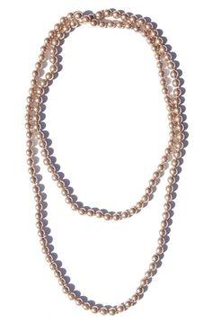 Light Cocoa Pearl Necklace   $24   jewelboxonline.com