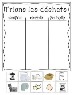 Unité sur l'environnement! Parfait pour le Jour de la Terre!: Teaching Social Studies, Teaching Science, Teaching Resources, Daycare Themes, Preschool Arts And Crafts, Core French, French Classroom, French Resources, French Language Learning