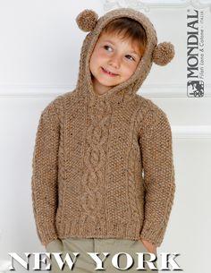 New York – Hooded Sweater   Knitting Fever Yarns & Euro Yarns
