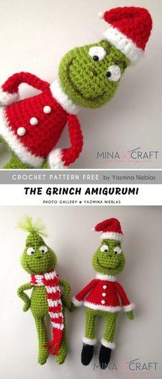 Crochet Amigurumi Design The Grinch Amigurumi FREE Crochet Bookmark Pattern, Crochet Bookmarks, Crochet Amigurumi Free Patterns, Christmas Crochet Patterns, Free Crochet, Scarf Crochet, Crochet Christmas, The Grinch, Crochet Crafts