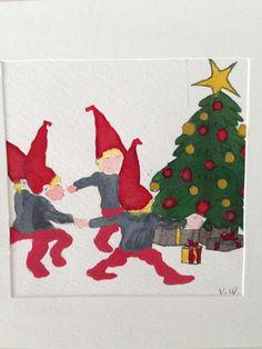 Christmas Card around the Christmas Three