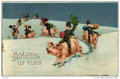 Antique Postcard ..Happy New Year.