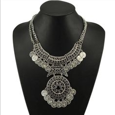 """Coin Gypsy Necklace Pretty silver toned zinc alloy necklace. This is gorgeous! New in package.I accept reasonable offers but please use """"OFFER"""" button. Jewelry Necklaces"""