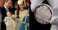 Príncipe George ganha moeda para celebrar o dia de seu batizado - Saiba detalhes sobre a criação da moeda em comemoração ao batizado de príncipe George e o valor de cada souvenir