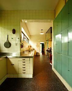 Retro coloured kitchen