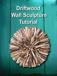 Make a Driftwood Wall Hanging. Simple tutorial to create your own fantastic DIY driftwood indoor or outdoor wall art sculpture by DIYDriftwood.com.