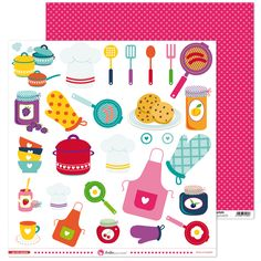 Scrapbook Stickers, Scrapbook Albums, Scrapbooking, Pusheen, Printable Planner, Planner Stickers, Printables, Food Drawing, Kitchen Art