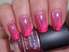 Born Pretty Store holo #3 with some Sinful Colors 24/7 nail art