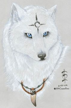 White Wolf | Blue-Eyed White Wolf 2 by *CrescentMoon on deviantART