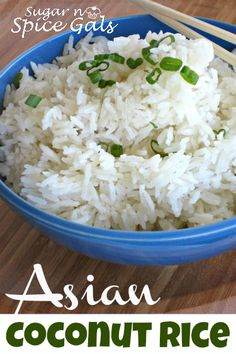 The perfect rice! I will never go back too minute rice. Asian Coconut Rice from www.sugar-n-spicegals.com
