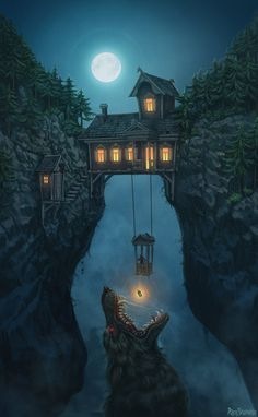 Konzeptkunst von Alex Shatohin - Animation Ideas - Make Up For Beginners Step By Step - Bangle Bracelets DIY - Hairstyles Wedding Guest - DIY Kitchen Projects Fantasy Places, Fantasy World, Dark Fantasy, Medieval Fantasy, Final Fantasy, Fantasy Forest, Fantasy Castle, Fantasy House, Dark Forest