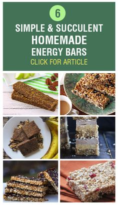 Check out these six mouthwatering energy bars that are quick and simple to make.