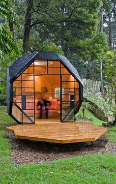 Polyhedron Habitable is a charming tiny relaxation space from Colombian architect Manuel Villa located in Bogota, the capital city of Colombia.