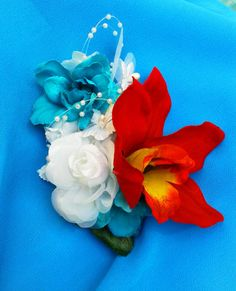 TROPICAL FLOWER CLIP  Hawaiian Orchids Bridal Flowers by MalamaPua, $34.99