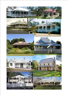 A variety of Australian houses Beautiful Dream, Beautiful Homes, Australian Farm, Australia House, Cute Cottage, Land Of Oz, Queenslander, Home Reno, Cottage Homes