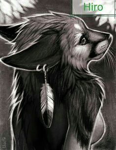 Animal Drawings, Cool Drawings, Drawing Animals, Illustration Art, Illustrations, Anime Wolf, Fox Art, Anime Animals, Furry Art