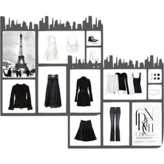 """""""French Chic - Minimimal capsule wardrobe"""" by r-mertje on Polyvore"""