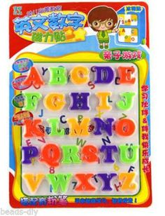 1/Set BD Colorful Magnetic 26 Letters Refrigerator Stickers Home Decor 3cm