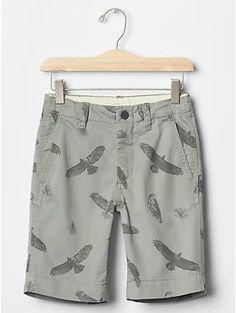 Bird flat front shorts