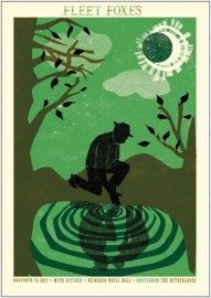Fleet Foxes poster for Amsterdam. I am determined to get this on my wall somehow.