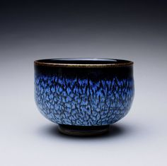 chawan pottery tea bowl with black tenmoku and by rmoralespottery, $40.00