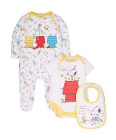 Peanuts Baby Girls Newborn Snoopy Girls Dress Set Multi