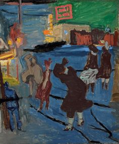 'Windy Night, Newark' (1917) by Stuart Davis