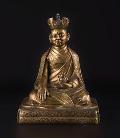 A bronze figure of the eleventh (?) Karmapa Tibet, 17th Century