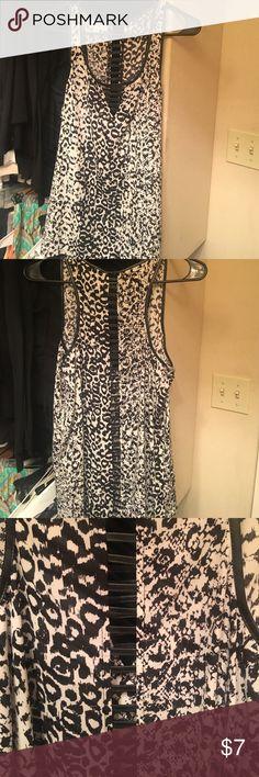 Peek-through Leopard Top Peek-through down the back. Never worn. Socialite Tops Tank Tops