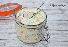 stuttgartcooking: Quark-Dip aus Räucherlachs und anderen Leckereien A Food, Good Food, Food And Drink, Yummy Food, Quark Recipes, Dip Recipes, Chutneys, Party Finger Foods, Food Club