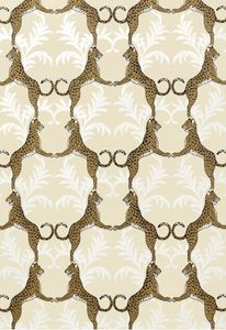 Cheetah Wallpaper - Metallic Gold