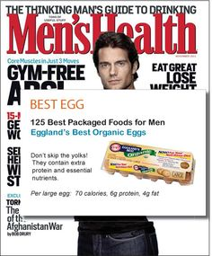 Men's Health 125 Best Packaged Foods for Men 2005-2011 #egglandsbest
