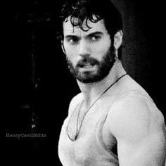 My #ManCrushMonday is #HenryCavill in #blackandwhite Look at those arms #Strong #Superman #ManofSteel #Gorgeous #Sexy #SexiestBeard #Beardlove