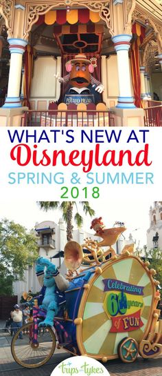 Visiting Disneyland in spring or summer 2018? The scoop on all the new attractions and events like California Adventure's Food & Wine Festival, Pixar Fest, Pixar Pier, and more. #Disneyland #PixarFest #PixarPier #Disney