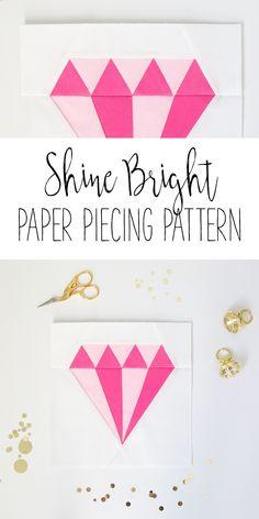 Shine Bright Diamond Paper Piecing Pattern - Simple Simon and Company