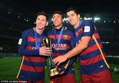 Messidoesn't depend on forward colleagues Luis Suarez and Neymar despite their brilliance as a trio