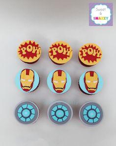Free Printable Avengers Iron Man Cupcake Toppers Comics