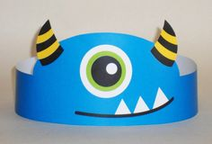 Monster Paper Crown Printable by PutACrownOnIt on Etsy Monster 1st Birthdays, Monster Birthday Parties, Birthday Party Favors, Fall Crafts, Halloween Crafts, Diy And Crafts, Monster Party, Diy For Kids, Crafts For Kids