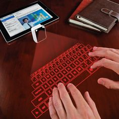 Remember the Magic Cube virtual computer keyboard we featured? Now a smaller, ultra-portable version is available with a compact, keychain design. The device is connected to your smartphone, laptop or tablet via Bluetooth or USB, and a revolutionary laser technology projects a virtual keyboard on any flat surface.