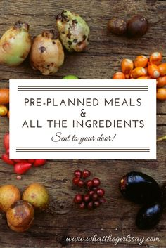Pre-Planned Meals and Ingredients Delivered to Your Door Easy Meals, Kid Meals, Tasty, Yummy Food, Menu Planning, The Fresh, Lunch Recipes, Food Inspiration, Cupcake Cakes
