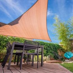 Brown Sun Sail Shade Triangle for Patio Lawn Garden Outdoor Pools Deck Backyard