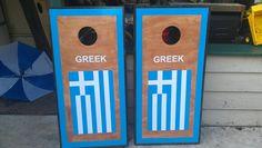 Custom Greek Cornhole Boards