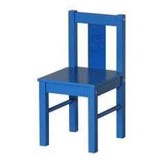 KRITTER Children's chair - blue - IKEA