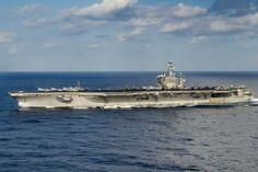 MEDITERRANEAN SEA (Dec. 6, 2016) The aircraft carrier USS Dwight D. Eisenhower (CVN 69) (Ike) transits the Mediterranean Sea. (U.S. Navy photo by Petty Officer 3rd Class Andrew J. Sneeringer)