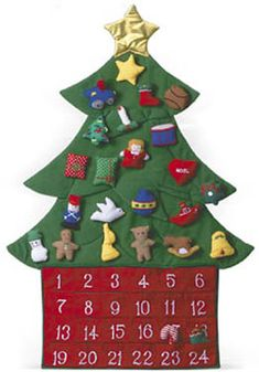 O Christmas Tree Fabric Advent Calendar   Fabric Advent Calendars   Vermont Christmas Co. VT Holiday Gift Shop