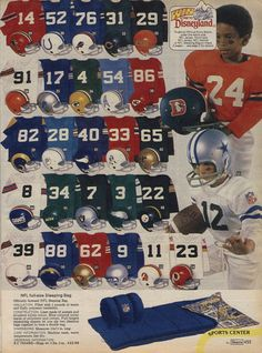 1979 Boys NFL Uniforms from Sears.