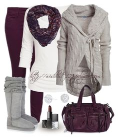 """""""Purple"""" by wishlist123 ❤ liked on Polyvore featuring Benetton, Fat Face, Mou, Zadig & Voltaire, NARS Cosmetics, Simply Silver, women's clothing, women's fashion, women and female"""